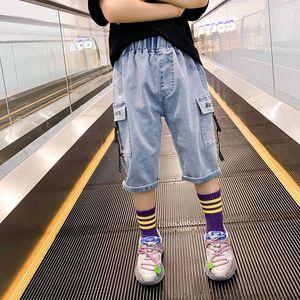 DLBdJ erkek şort dış kot pantolon yaz giyim 2020 yeni beş veya yedi puan yaz pantolon Koreli Jeans çocuk giyimi çocuk Childre