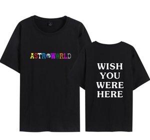 Astroworld Tasarımcı Erkek Tişörtü Erkekler Yaz Hommes T shirt Tasarım Harajuku Kaykay Hoodies Tops