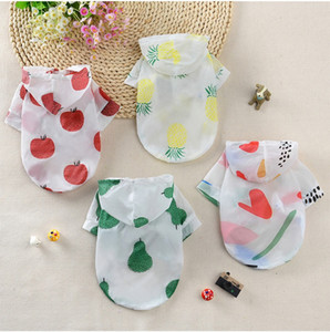 Pet Cloth Summer Sun-protective Clothing With Hat Dog Clothes Fashion Top Cool Vest Clothes Dog Puppy Small Dog Clothes Cheap Pet Apparel
