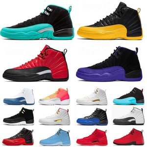 Mens 12 Basketball-Schuhe 12s XII Jumpman 23 DARK CONCOR FLU GAME BULLS FIBA GYM UNC JADE Gamma Universität Gold-Trainer Sport-Turnschuhe