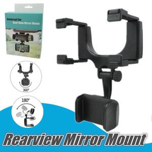 360 Verstellbare Universal-Handy-Halter mit Auto-Auto-Rückspiegelhalter Handy-Halter Halterung Ständer für iPhone 12 11 Pro Max