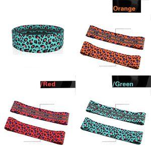 Leopard Женщины пояса Приседания Мути цвета Пятна диапазоны сопротивления Полиэстер Хлопок Эластичность Ленточные Тяжение Yoga 12 5AM C2