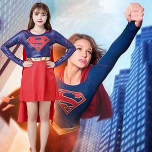 dZcxc de Halloween Superman Actuación de ropa de vestir Superwoman cosplay de dibujos animados de Halloween Superman Actuación ropa ropa de la etapa de rol ro