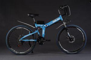 Mountain Bike Factory Direct 26-Zoll-21-Geschwindigkeit Folding Electric Mountain Bike Leistung Elektro-Auto-36V / 48V-Lithium-Batterie