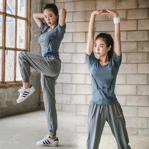 Nu-Juni Frauen Fitness Frauen Anzug Lauf Sets Quick Dry Yoga-T-Shirt TopsBra Set Gym Jogging Yoga Sets Anzug Workout Sport-Sets