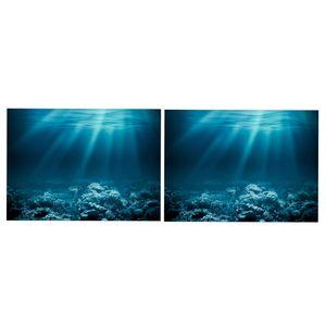 Background 2x 3D 61x41cm Fish Tank Decor Poster Pictures para aquário Fish Tank