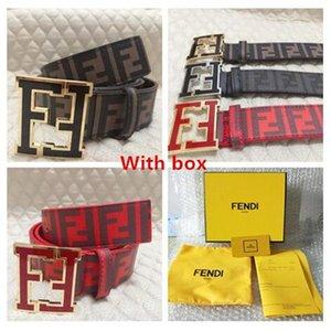 F Luxus Gürtel Herren Designer Gürtel für Frauen-Gold-Fendi Knopf und Pearl Gold Buckle VV Gürtel Versand mit Box