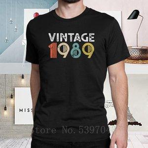 Men Anniversary T Shirt Vintage 1989 29th Birthday T-Shirts Novelty short sleeve Tee Shirt 100% Cotton Crew Neck Clothing Street