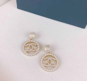 designer earring with pearl and hollow shape for women wedding Earrings Fashion jewlery gift hot sale