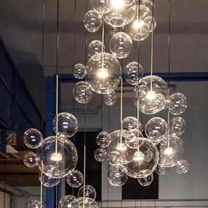 Modern Glass Bubble Pendant Lamp Chandelier Bar Villa Hotel Home Living Room Dining Room Ceiling Light Fixture PA0193