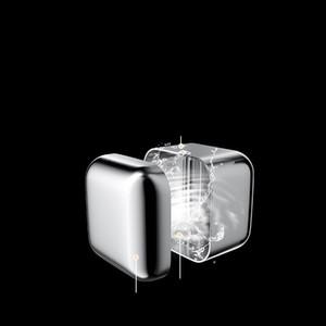 Succo di lucidatura blocchi di ghiaccio in acciaio inox Icecube Piazza riutilizzabile Hollow metallo Ice Stone Fruit Beers Vini del dispositivo di raffreddamento ghiacciato 2 5myb C2