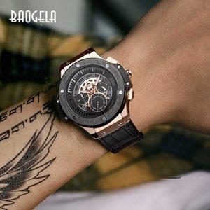 BAOGELA hommes montres hommes horloge de luxe marque Quarz-Sport-montre Rose chronographe Modus montre-Armband gießen hommes1910