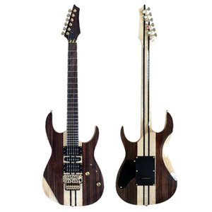 Custom wholesale Seiko make double rock rosewood veneer electric guitar, provide custom service