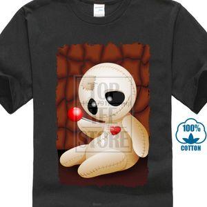 남성 짧은 소매를 들어 부두 인형 만화에서 사랑 100 % 코튼 T 셔츠는 T 셔츠 브랜드 아버지의 날 O-목 티 셔츠 독특한 탑