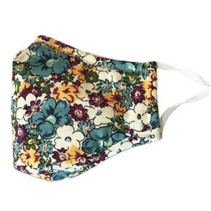 13 Stile Blumen Maske Breath faltbare Mund Masken Wiederverwendbare Sonnenschutz Erwachsene Gesichtsmaske Housekeeping Masken YYA186