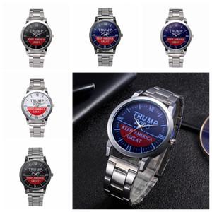 Trump pulso Relógios Trump 2020 Impresso Strap Watch Retro Carta Unisex Quartz Relógios favor de partido Relógios de pulso 30pcs 5 Estilos CCA12314