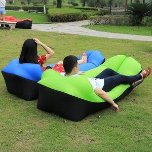 새로운 디자인 2019 캠핑 매트 게으른 소파 풍선 공기 소파 비치 베드 라운지 게으른 가방 매트리스 잠자는 침대 에어 안락