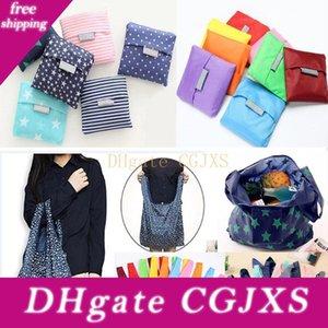 Reutilizable plegable Bolsos de ultramarinos bolsa de almacenamiento de Altas Prestaciones plegables de compras bolsas impermeables de nylon bolsas de la compra de DHL WX9-661 gratuito