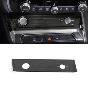 Car Accessories Stainless Central Control Panel Knob Cover Trim Sticker Frame Interior Decoration for Audi Q3 F3 2018 2019 2020