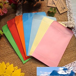 NEW! Mini Size 7x10cm, 8 Candy colors Envelopes   Paper Gift bag, Party Favor Message Mini Paper Bag 200pcs lot