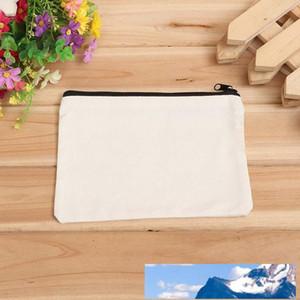 Kalem durumlarda kalem fermuar toptan 19cmx15cm boş tuval pamuk kozmetik Çanta makyaj çantaları Cep telefonu debriyaj çanta özel logo torbalar