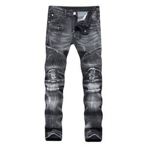 Diseñador Denim Jeans Hombres tramo recto de gran tamaño 28-38 40 42 2020 Primavera sutumn invierno de Hip Hop Punk Streetwear remiendo