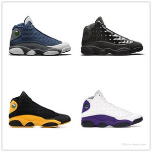 13 13s Mens Basketball Shoes Atmosphere Grey Wheat Bred DMP Chutney Black Cat Trainers XIII High Sports Snerkers 7-13