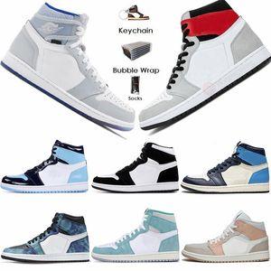 Nike Air Jordan Retro 1 High Travis Scotts 1s Scarpe Low Parigi pallacanestro del Mens Twist UNC Zoom Racer Blu media Milano Obsidian Fearless donne Stylist Sport Sneakers