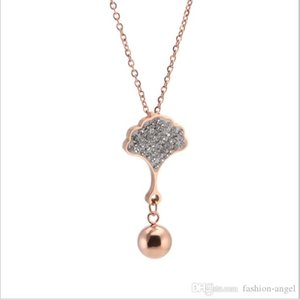 Promotion mixed order valentines day gifts women's stainless steel necklace rose gold necklaces girlfriend's birthday gifts suppli