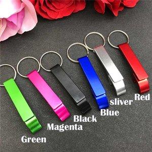 50шт Свадебный Персонализированные бутылок Keychains Keyrings персонализированного подарка венчания упаковки в белый цвет органзы мешок