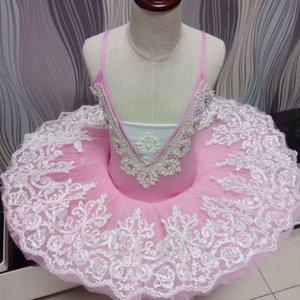 Professional ballet skirt adult harness fluffy tulle skirt TUTU autumn and winter practice white swan lake children's perf
