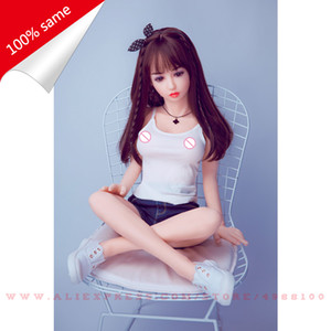 110 Cm Real Silicone Sex Top Skeleton Adult Love Vagina Realistic Pussy Japanese Reality Sexy Doll Breasts T200717