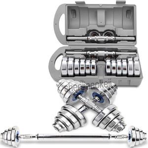 الصلب الدمبل 20KG الرئيسية الرجال الدمبل ثنائي طلاء الصلب النقي الحديد 2 في 1 تصميم 1PC معدات رياضية