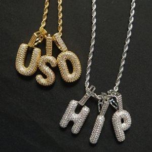 HipHop Алмазный набор Часы мужские европейского и американского хип-хоп Белый камень Письмо ожерелье Полный Алмазные однорядные Diamond Necklace Street Трен