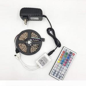 BRELONG 5050LED Flexible Light Bar 300LED 24 44 key Remote Control RGB Color Bar Decoration Light Strip 12V