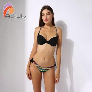 Andzhelika Yeni Bikini Bayan Mayo Yaz Yazdır Vintage Mayo Seksi bikini mayo Plaj Mayo Brezilyalı ayarlar