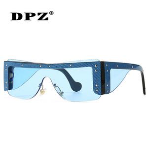 2020 DPZ-Sonnenbrille-Frauen Integrierte Retro Vintage Sonnenbrille Übergroße UV400 Männer Shades