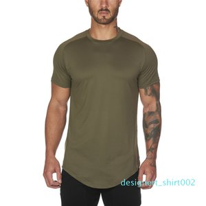 Mesh T-Shirt Clothing Tight Gyms Mens Summer New Brand Tops Tees Homme Solid Quick Dry Bodybuilding Fitness Tshirt d02
