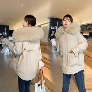 Wholesale fashion pike women's new winter big fur collar padded jacket student short waist cotton coat