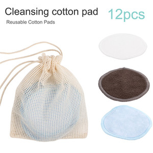 New Fashion Reusable Portable Bamboo Fiber Washable Rounds Pads Makeup Removal Cotton Pad Cleansing Facial Pad Tool