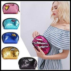 EPACK Envelope Cosmetic Bags Mermaid Sequin Bag European and American Women's Fashion Shell Clutch Bag Cosmetic Storage