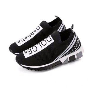 04 Must-have Branded Men Graffiti Print Fabric Sorrento Slip-on Breathable Sneaker Designer Women Two-tone Rubber Micro Sole Casual Shoes