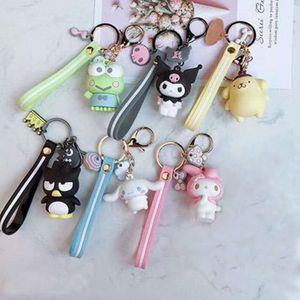 Cartoon keychain PVC key chain Cinnamoroll Bad Badtz Maru cute funny novelty High Quality pendant jewelry