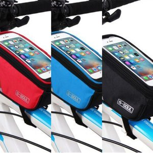 B- SOUL bicycle bicycle touch screen mobile phone mountain bike mobile phone upper tube bag front beam bag riding equipment