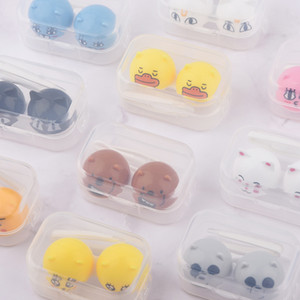 Animal Contact Lens Case animal Lenses Box Color Cute Contact lens case Cartoon Glasses 100 pcs free shipping DHL