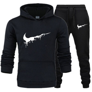 2020 men Tracksuit Designer New Sportswear Sets Winter 2020 Casual clothes large size woman Two Piece Suit Hoodies Sweatshirt+joggers pants