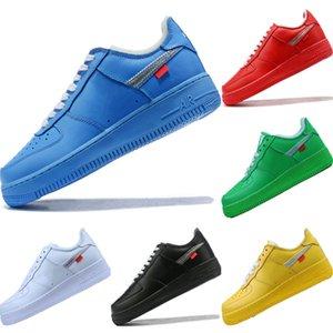 2020 AF1 Vintage Deri Düşük Kesim Kaykay Ayakkabı Originals AF1 Tampon Kauçuk Built_in Zoom Air Kıtıklanması Spor Ayakkabıları