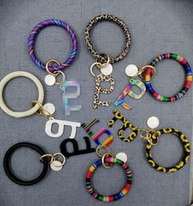 INS Safty Key Holder PU cuir Tassel bracelet porte-clés Bracelets non de contacts Ascenseur Bouton public de protection outil porte-clés Bangle E73103