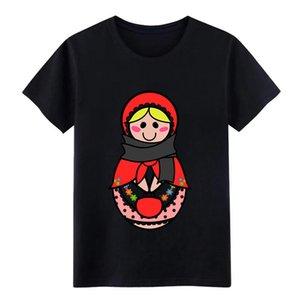 matrioska c camiseta Carácter camiseta O-Cuello sólido color de la camisa famoso Funny Spring Unique