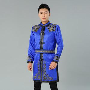 Asie vie quotidienne vintage Costume Vêtement traditionnel ethnique pour les hommes Tang costume haut Mongolian veste mâle oriental